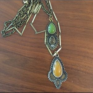 Jewelry - Boho double layer pendant necklace