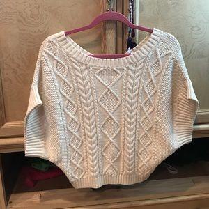 BCBGeneration Sweaters - BCBG white short sleeve sweater