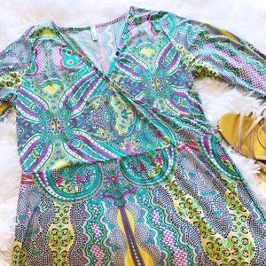 Auditions Dresses & Skirts - Faux Wrap Mini Dress