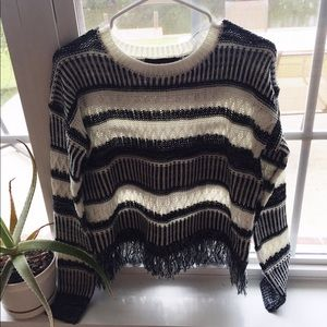 MINKPINK Sweaters - ➶MinkPink Black and White Knit Sweater - Medium➶
