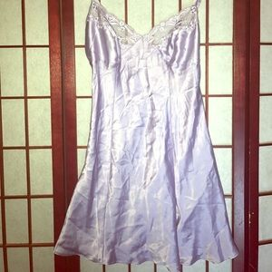 PINK Victoria's Secret Other - PINK VICTORIA SECRET LAVENDER SATIN&LACE NIGHTY XS