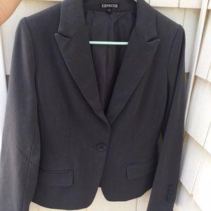 Express Size 4 Dark Gray Suit Jacket Blazer