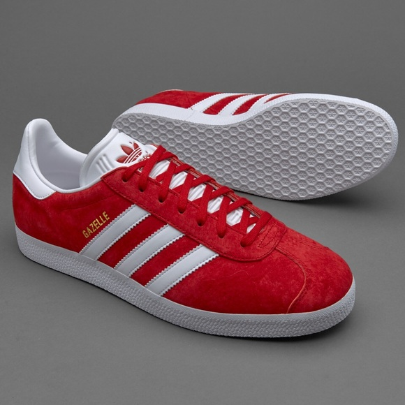 reputable site 0c6f9 2209f Adidas Gazelle Red Shoes