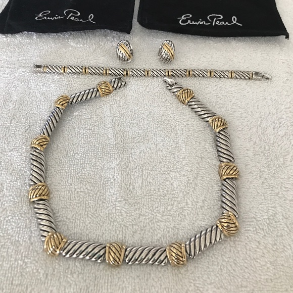 Jewelry Erwin Pearl Necklace Bracelet Earring Set Poshmark