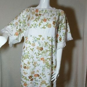 Vintage Terry Cloth Towel Dress/Cover-up