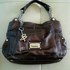 B MAKOWSKY Handbags - NWOT B MAKOWSKY BROWN LEATHER SHOULDER BAG