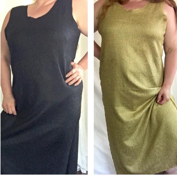 Dresses Reversible Black Gold Plus Size Dress Poshmark