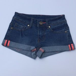 Other - Stretchy roll up denim shorts