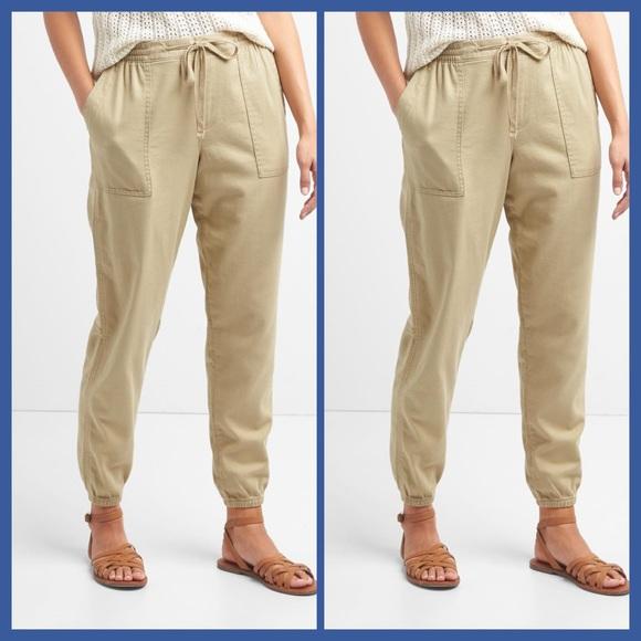 Simple Gap Linen Jogger Pants In White Optic White  Lyst