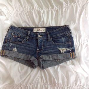Hollister Pants - Hollister shorts denim  frayed destroyed size 1