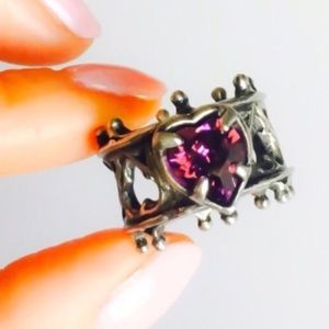Pure Purple Heart Swarovski Crystal Trellis Ring
