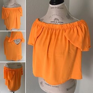 Peach Love California Tops - Off shoulder top made in USA