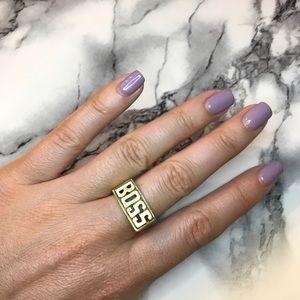Jewelry - Gold BOSS Nameplate Ring