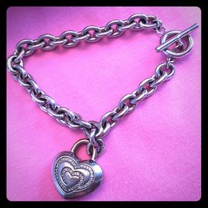 Zales Jewelry - The Shared Heart Sterling Toggle Bracelet Zales