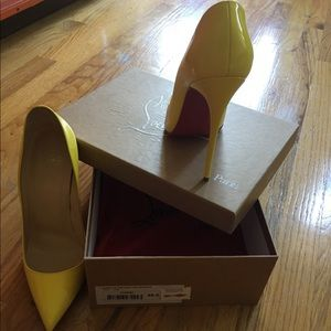 Christian Louboutin Shoes - Pigalle Follies 120 patent in Sun. Brand new w box
