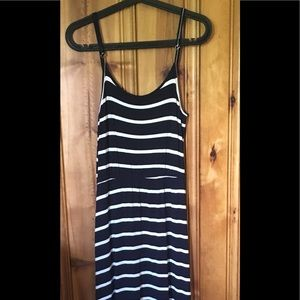 5th & Love Dresses & Skirts - Navy and White Striped Maxi Dress