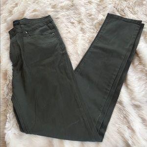 American Bazi Denim - Army Green Distressed Jeans