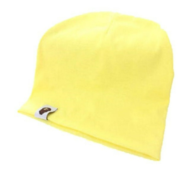 52217666ad4 Yellow beanie hat cap baby toddler child NEW. M 594eba4fb4188e75ea01226f