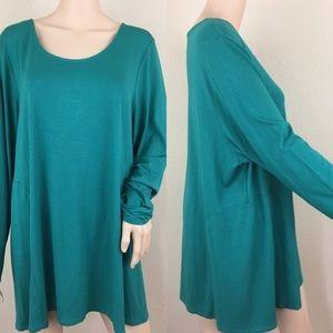 J. Jill Tops - J. Jill emerald tunic top wearever