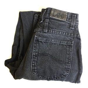 Vintage Denim - Vintage • Black high waisted Lee mom jeans
