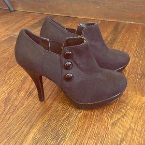 Unlisted Shoes - Black Bootie Heels