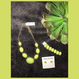 Anna & Ava Jewelry - Anna & Ava green necklace, earrings and bracelet