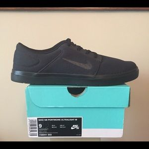 Nike Other - Nike SB Portmore Ultralight skate shoes Black sz9