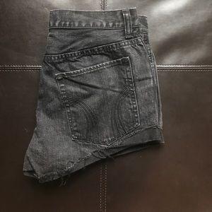 Hollister Pants - Hollister black denim shorts