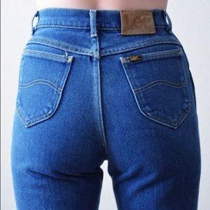 Vintage Denim - Vintage • High waisted Lee mom jeans