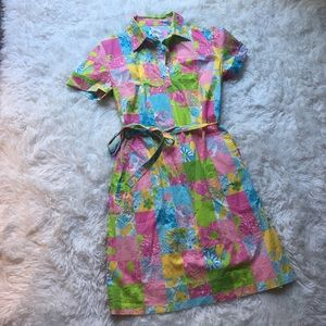 Lilly Pulitzer Dresses & Skirts - Vintage Lilly Pulitzer Rare patchwork dress