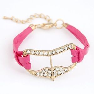 Jewelry - NWOT Pink masquerade shield bracelet