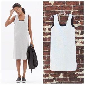Madewell XS Gray Jersey Cutout-Back Shift Dress