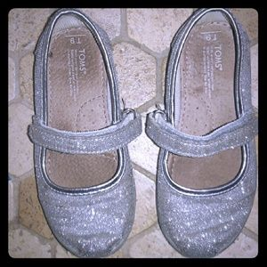 Tom's Other - Mary Jane Silver Sparkling Toms