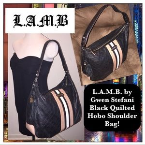L.A.M.B. Handbags - L.A.M.B. by Gwen Stefani Quilted Leather Hobo Bag!