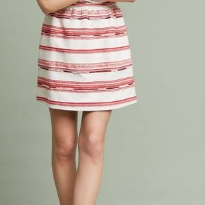 NWT Anthropologie Paper Crown Skirt Fiesta Red S