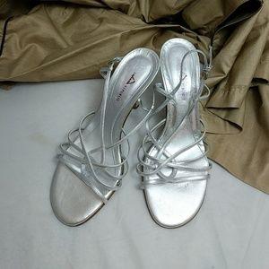 Banana Republic Shoes - Banana Republic silver strappy sandals 7.5