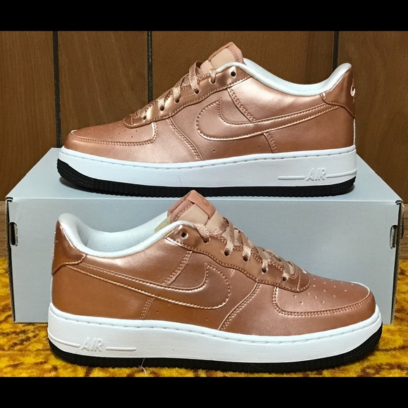 save off fb018 78726 Nike Air Force 1 SE Metallic Rose Gold Shoes NEW