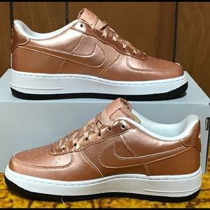 Nike Shoes - Nike Air Force 1 SE Metallic Rose Gold Shoes NEW