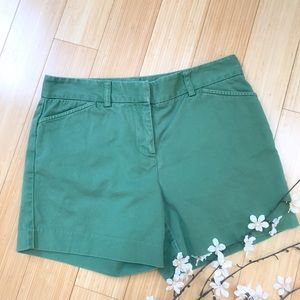 J. Crew Pants - J. CREW green chino shorts, 4. Favorite Fit.