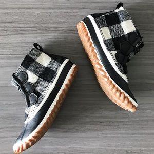 Buffalo Check Sorel booties