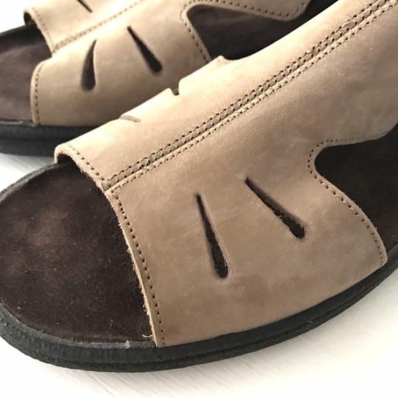 Excellent Clarks Springers Womenu0026#39;s Sandals Blue Nubuck Leather Size 9 - Sandals U0026 Flip Flops