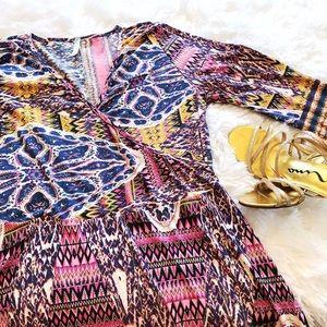 Auditions Dresses & Skirts - Mini Faux Wrap Dress