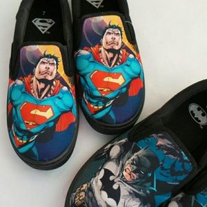 Superman Other - COMING SOON NWT Superman 7-13 slip-on sneakers