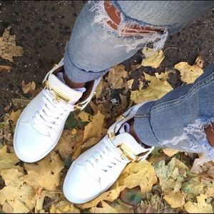 Buscemi Shoes - White on white Buscemi sneakers.