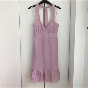 J.Crew Linen Halter Dress