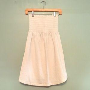 Tube Top Dress Silver & White Stripe EUC