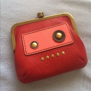 Fossil Handbags - FOSSIL Robot Leather Coin Purse