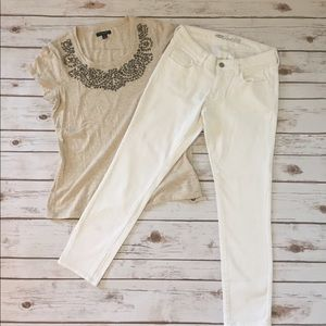 Old Navy Denim - White Skinny Rockstar Jeans NWOT