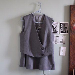 Vest/Skirt Suit Set