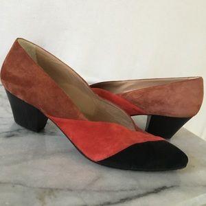 Shoes - Vintage Maud Frizon Paris suede heels